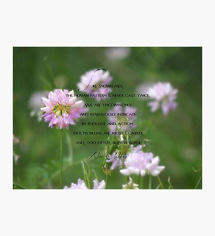 Like snowflakes-inspiration Photographic Print