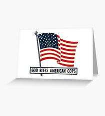 Vintage God Bless American Cops Greeting Card