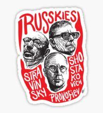 Ruskies-Russian Composerss Sticker