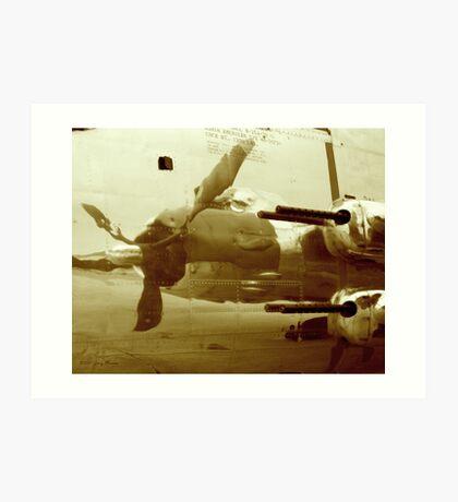 B25J Gunship Art Print