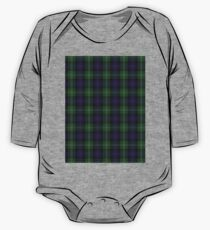Clan Sutherland Tartan Plaid Red Green And Blue Texture One Piece - Long Sleeve