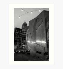 Past and present at night Art Print