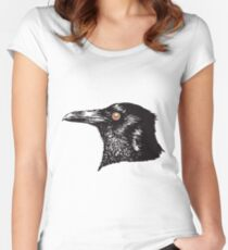 Inky Crow original pattern Women's Fitted Scoop T-Shirt