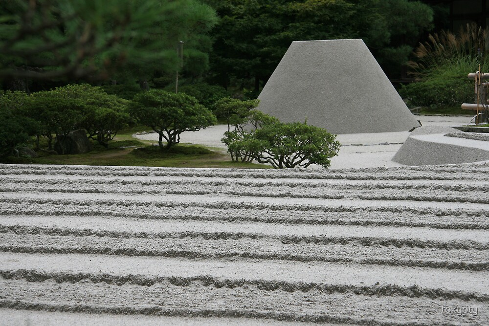 Garden at the silver temple by tokyoty