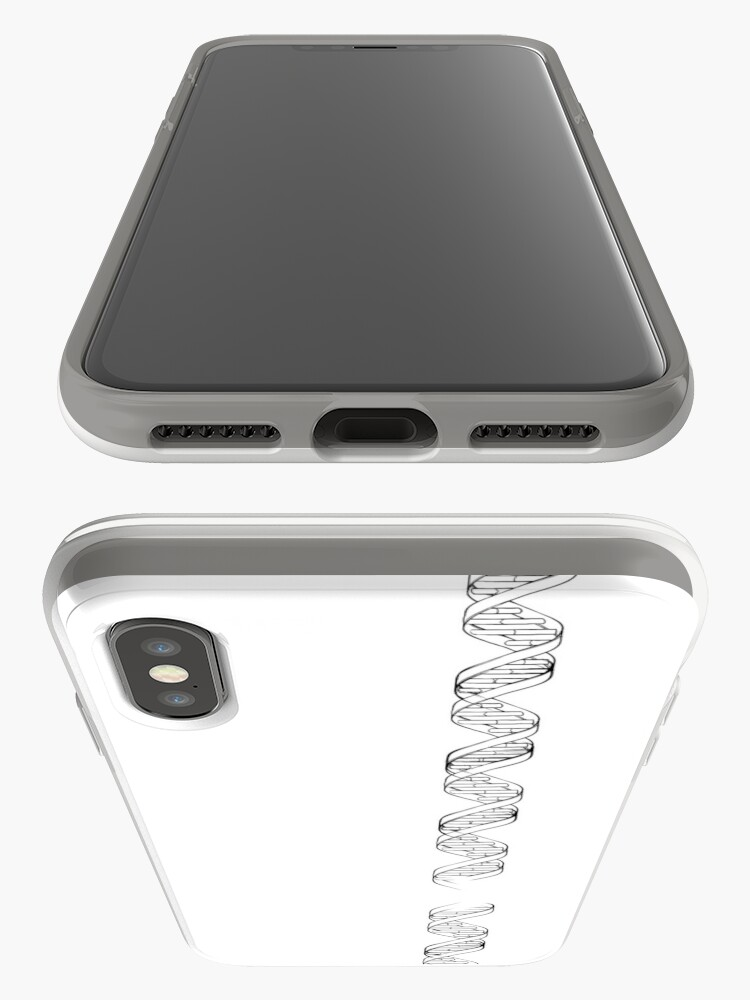 Alternate view of Doodle style genetic DNA iPhone Case & Cover