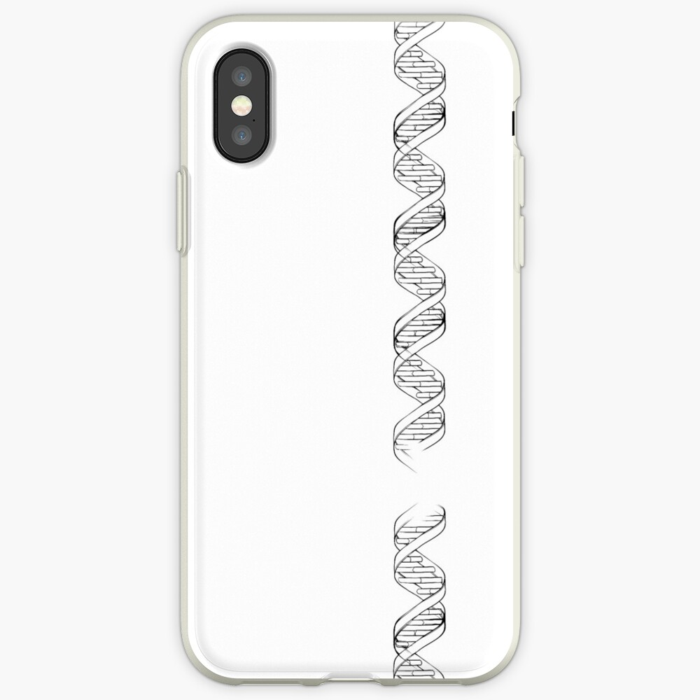 Doodle style genetic DNA iPhone Case & Cover