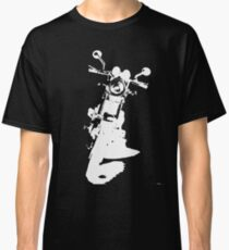 Motorcycle Silloutte  - white Classic T-Shirt
