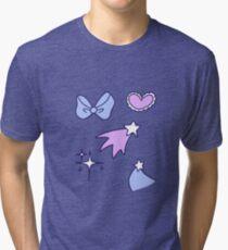 Hearts Bows and Stars Tri-blend T-Shirt