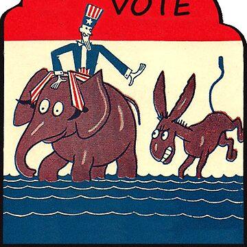Vote Republican Vintage de hackeycard