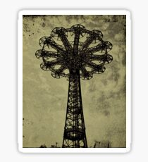 Coney Island Lovers - Bare Bones Parachute - Brooklyn Gift Sticker