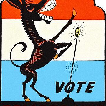 Vote Demo Vintage de hackeycard