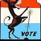 Vote Demokratische Vintage von hackeycard