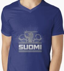 Suomi Finland Lion V2 Men's V-Neck T-Shirt