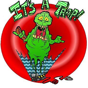 Slimer it's a trap by Skree