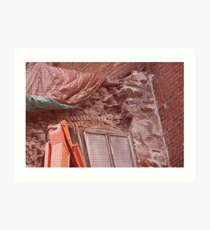 Restoration in brick Art Print