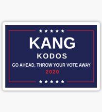 Kang & Kodos - Election 2020 Sticker