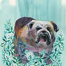 Fancy Bulldog by Eva C. Crawford