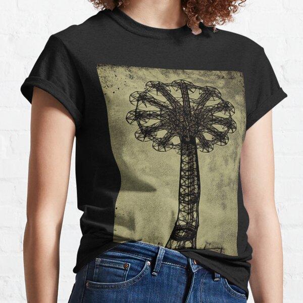 Coney Island Lovers - Bare Bones Parachute Art Photo - Brooklyn Gift Classic T-Shirt