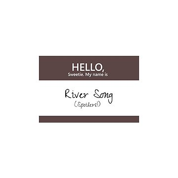 River Song Name Tag by blackoutart
