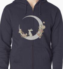 Moon Rabbit Zipped Hoodie