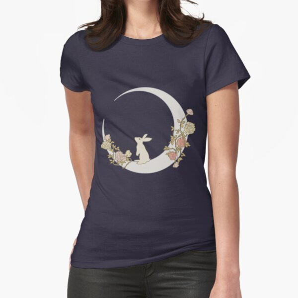 Moon Rabbit Fitted T-Shirt