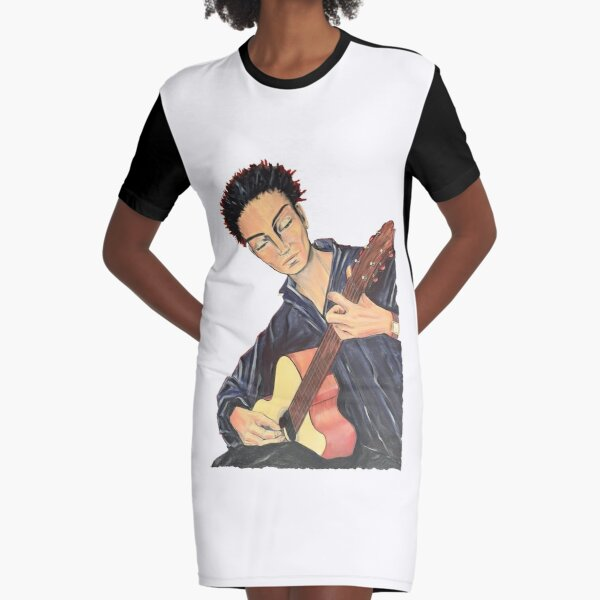 Guitar Man Graphic T-Shirt Dress