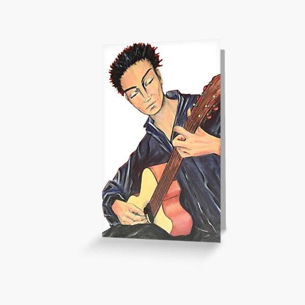 Guitar Man Greeting Card