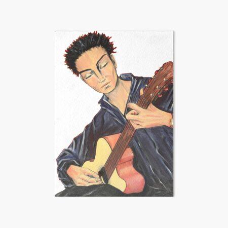 Guitar Man Art Board Print