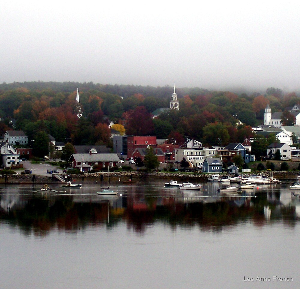 New England Village by Lee Anne French