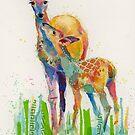 Spring Deer by Eva Crawford