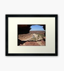 Looking Through Natures Window  Framed Print