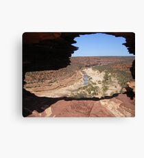 Looking Through Natures Window  Canvas Print