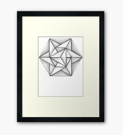Paper Star 2 Framed Print