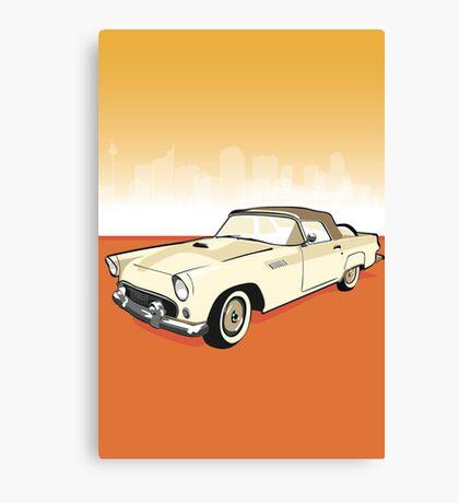Mrs Peel convert car Canvas Print