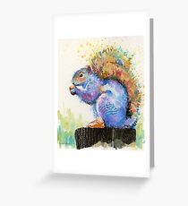 Spring Squirrel with Red Kicks Greeting Card