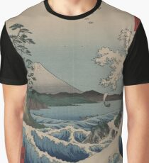 Japanese Art - View of Mount Fuji 23: The Sea off Satta (1858) Graphic T-Shirt