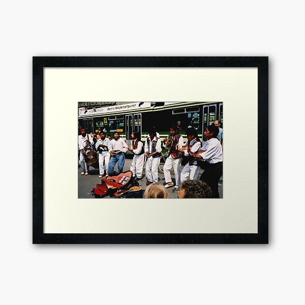 City Buskers Framed Art Print
