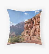 Zion Scenic Drive Throw Pillow