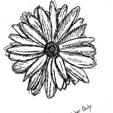 Gerber Daisy Sketch by JuliaDream