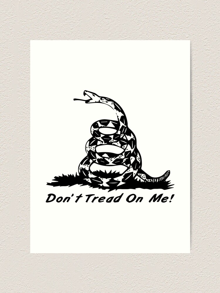 Don T Tread On Me Gadsden Flag Rattlesnake Art Print By 321outright Redbubble