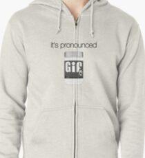 It's Pronounced Gif Zipped Hoodie