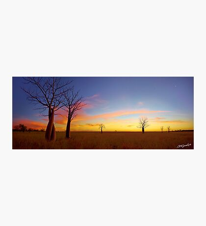 The Kimberley Plains Sunset Photographic Print