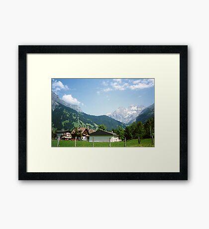 Kandersteg Mountains Framed Print