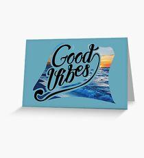 Good Vibes - Coachella Greeting Card