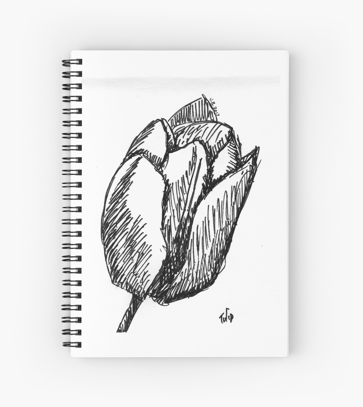 tulip sketch spiral notebooks by juliadream redbubble