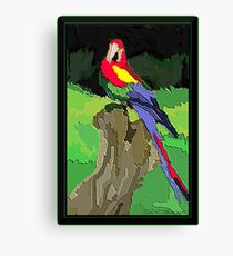 Textured Parrot Canvas Print