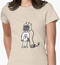 Wired In Retro Gamer Womens Fitted T-Shirt