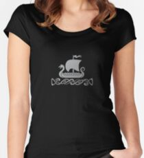 Dragon Boat - Silver Grey Women's Fitted Scoop T-Shirt
