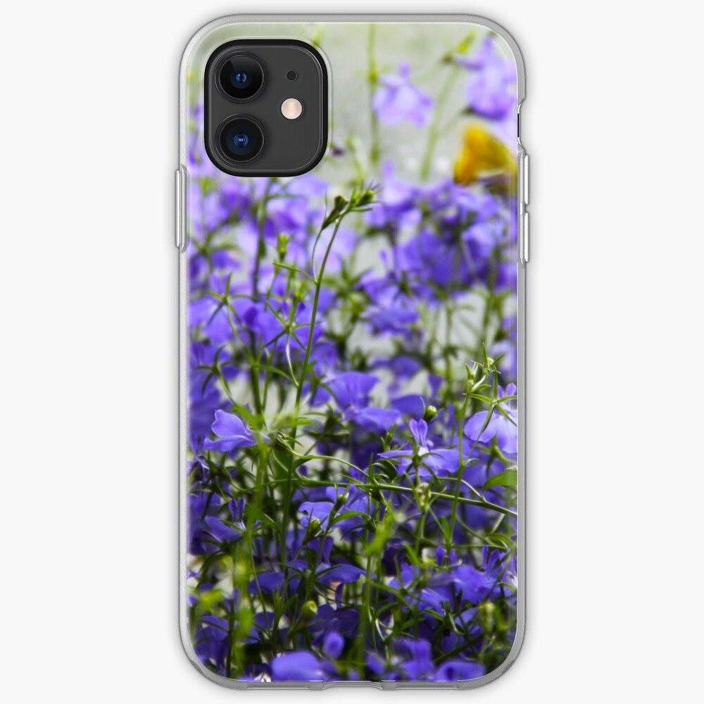 Purple Blue Perennial  iPhone Soft Case