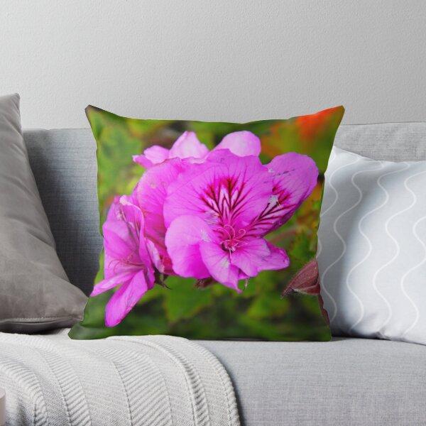 Alcatraz Flower Throw Pillow